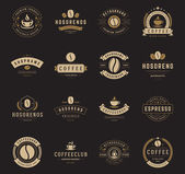 Fotografie Coffee Shop Logos, Badges and Labels Design Elements set
