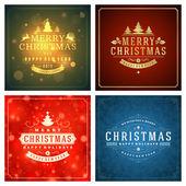 Fényképek Christmas greetings cards vector backgrounds set