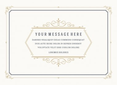 Vintage Ornament Quote Marks Box Frame Vector template design