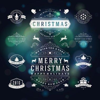 Christmas Decorations Vector Design Elements