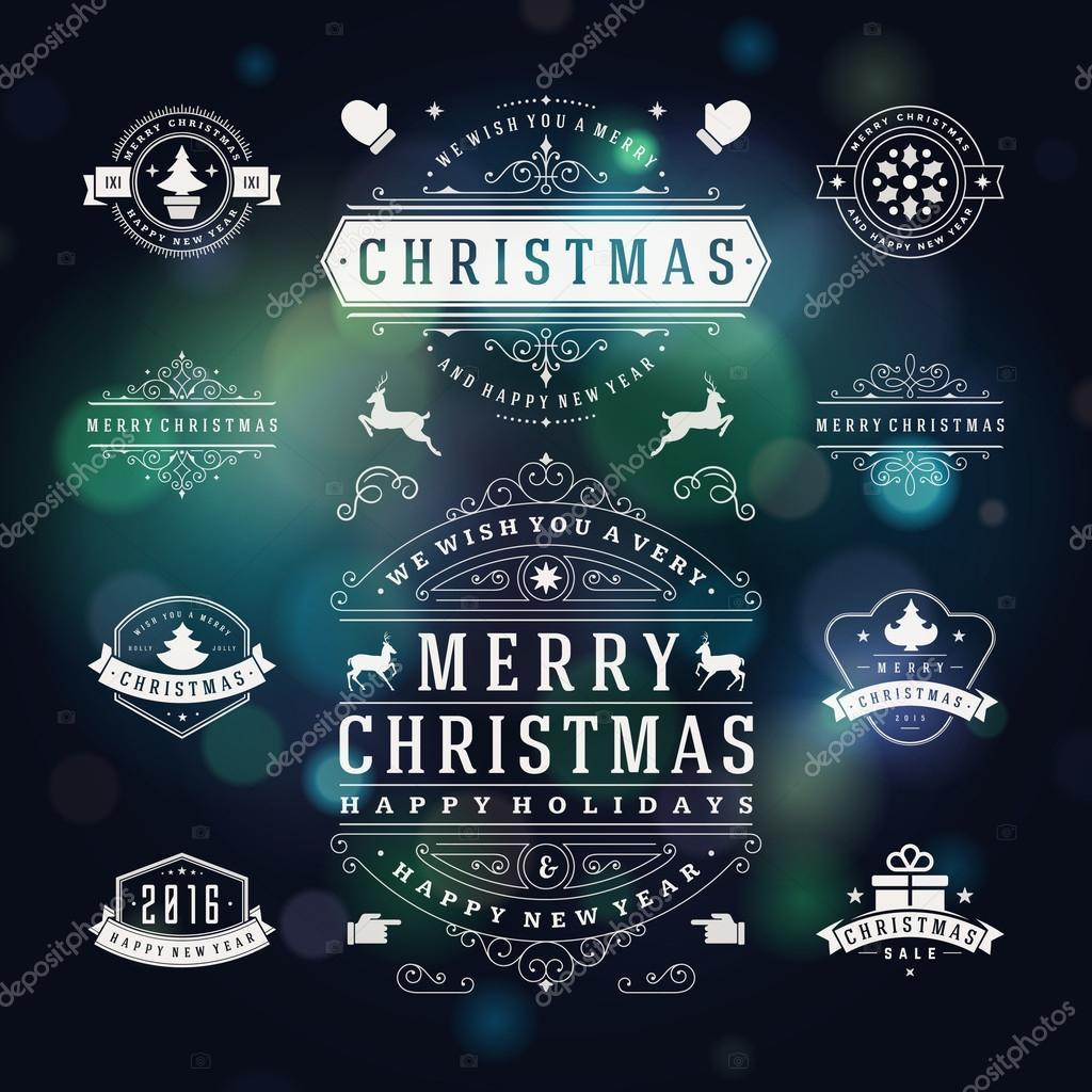 Elementos de diseño de vectores de Navidad decoraciones — Archivo ...