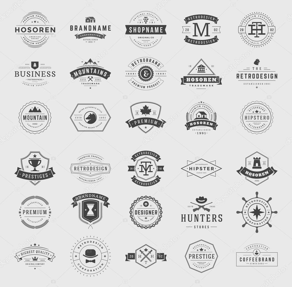 Retro Vintage Logotypes set
