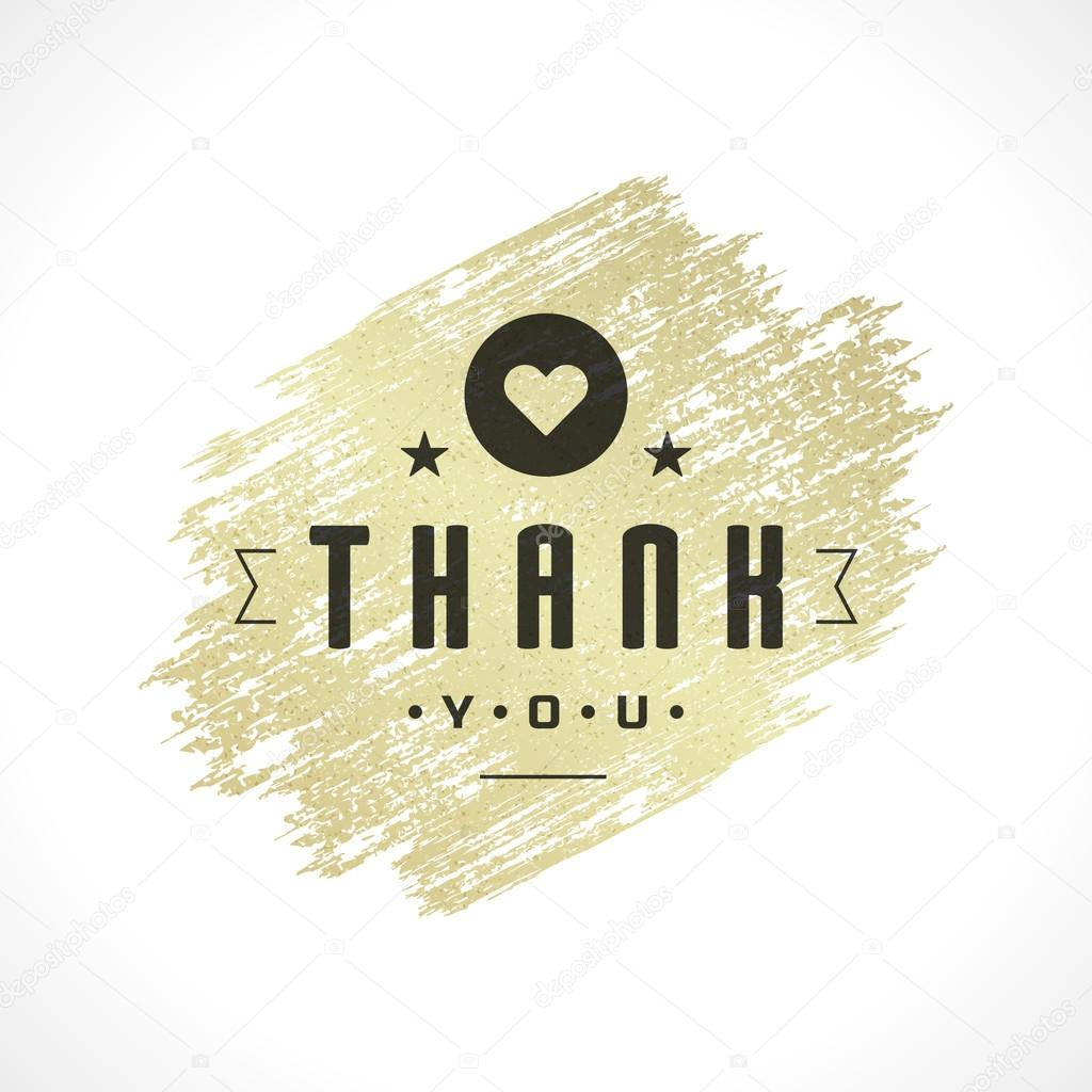 Thank you typography message vintage greeting card design template thank you typography message vintage greeting card design template gold texture paint stain retro vector background thank you card note kristyandbryce Choice Image