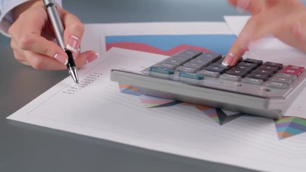 Accountant delivers financial report.