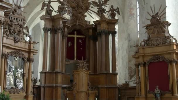 Old altar in the church.