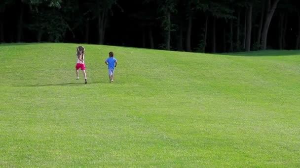 Kids are running.
