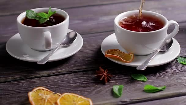 Cups of tea.