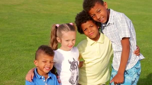 Four nice children.