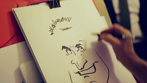Umělec maluje karikatury