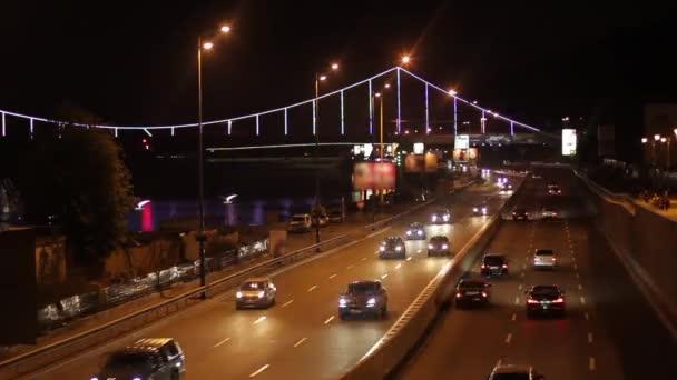 Rush hour of the night city.