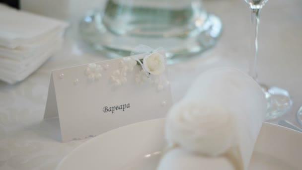 Tabulka pro svatební hostinu