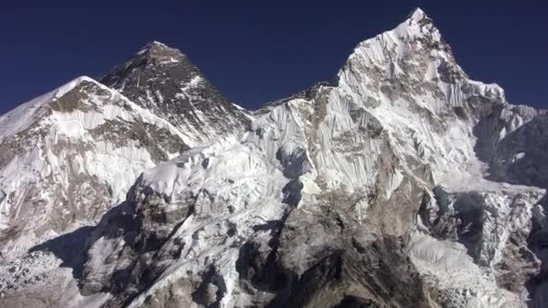 Panorama Everest, Lhotse zdi a Nuptse Peak. Nepál