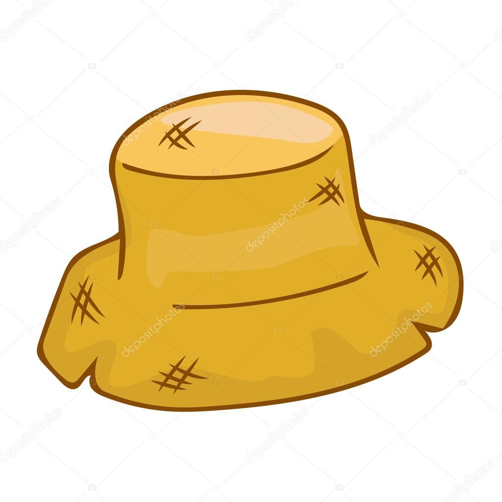72fde36f761d0 ilustração isolado de chapéu de palha — Vetor de Stock © madozi ...