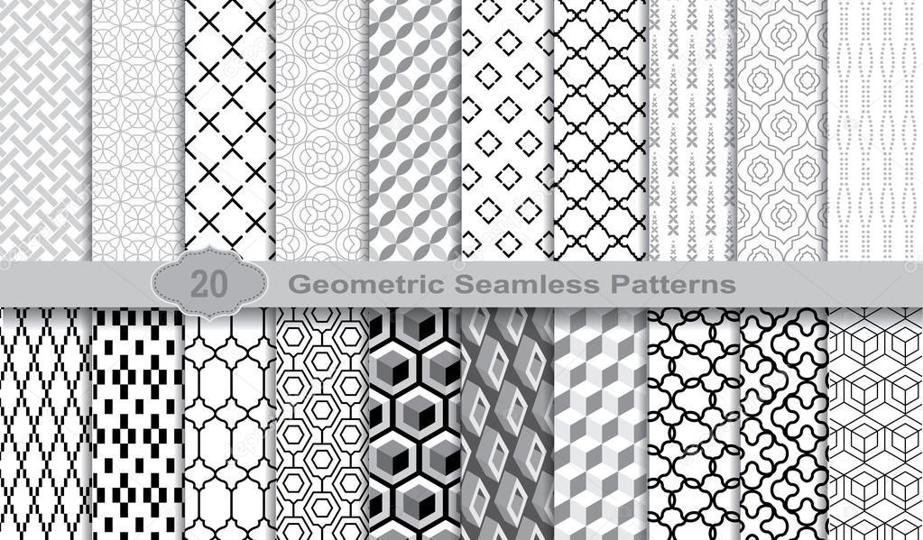 Patrones illustrator descargar | Geométricas sin costuras patrones ...