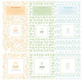 Fotografie Vector set of design elements and icons in trendy linear style for soap package