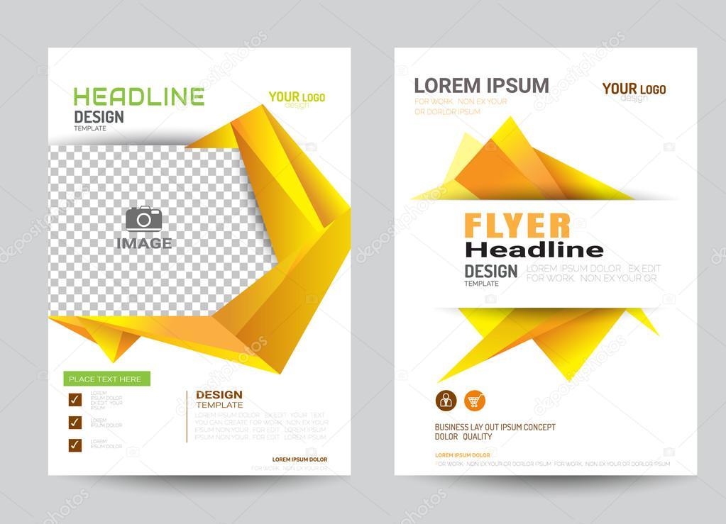 modello di layout design flyer brochure aziendale in formato a4