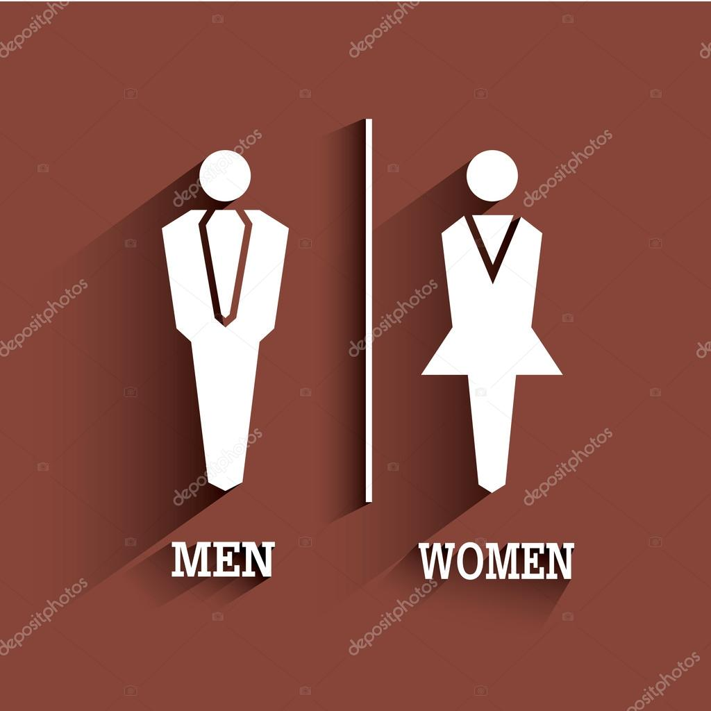 Wc sign toilet symbol male and female with long shadow stock wc sign toilet symbol male and female with long shadow stock vector biocorpaavc Choice Image
