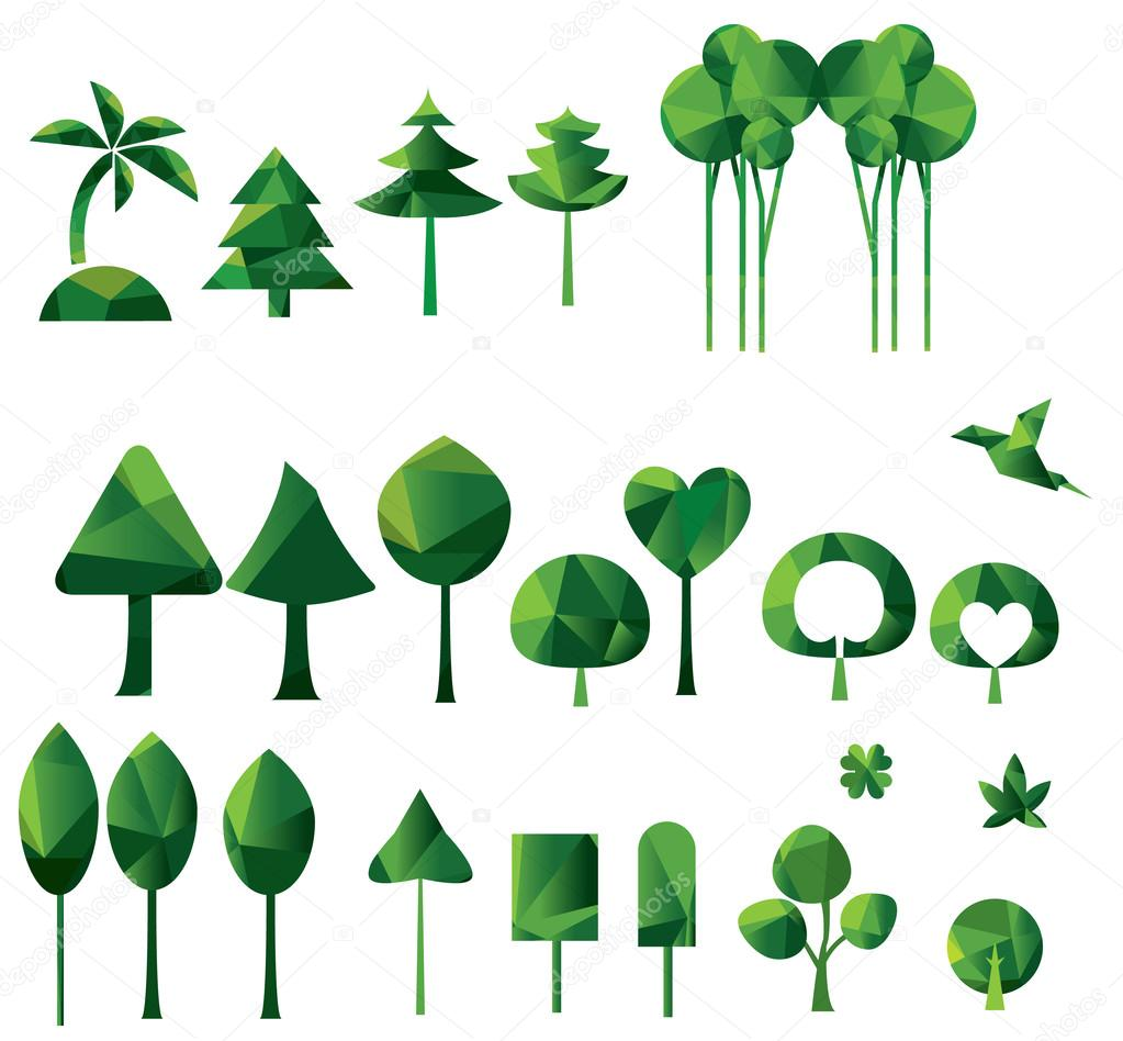 Set of geometric vector trees