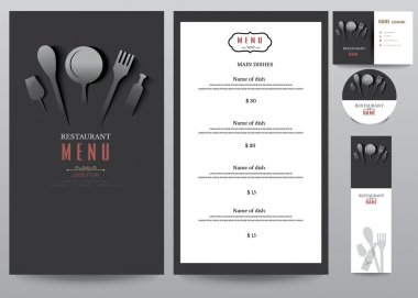 Restaurant menu design set.vector illustration