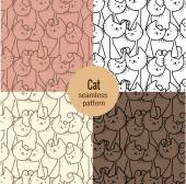 Fotografie cat seamless patterns set,pattern swatches included for illustrator user, pattern swatches included in file, for your convenient use.