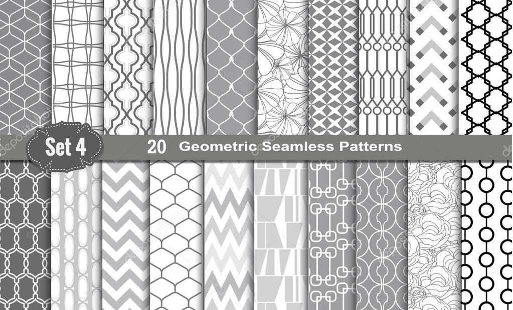 patrones geométricos inconsútiles — Vector de stock © artdee2554 ...