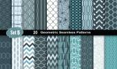 Fotografie Geometric Seamless Patterns .vector