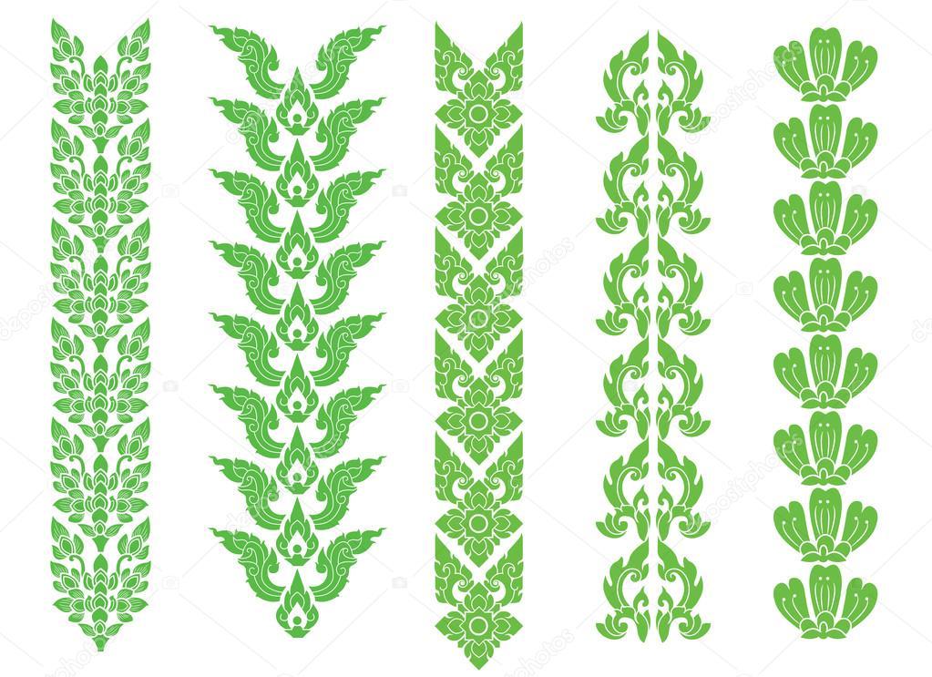 border thai pattern art vector, thai design