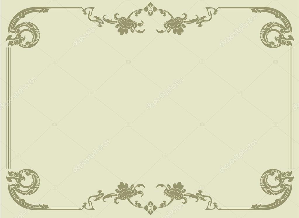 Thai elegant art frame, certificate design template, thai pattern ...