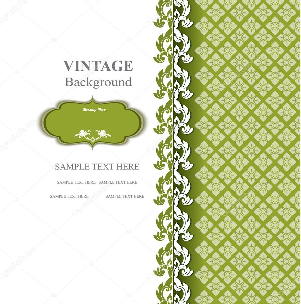 Vintage background, thai design. thai pattern vector
