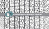 Photo cartoon animal seamless patterns