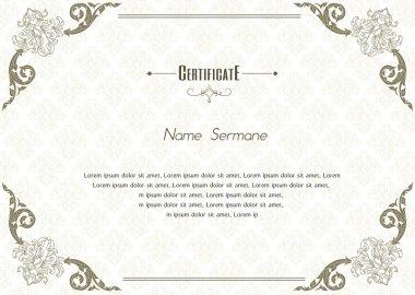 Certificate Design Template, thai design.