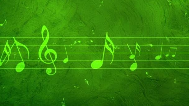 Sfondo animato con le note musicali, note di musica che scorre, flusso di note di musica - Seamless Loop in volo