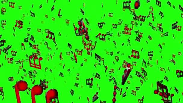 Sfondo animato con note musicali, note di musica che scorre, flusso di musica note di volo - Loop