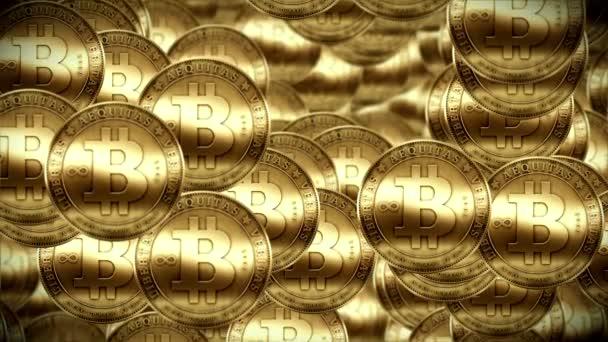Bitcoin rain, Gold coins fallin down