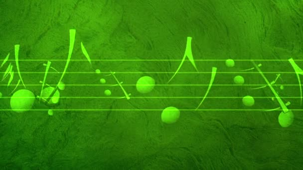 Animated background with musical notes, Music notes flowing, flying stream of Music Notes - Seamless LOOP