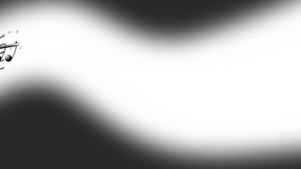 Animated background with musical notes, Music notes flowing, flying stream of Music Notes