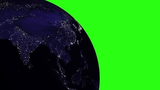 Planeta země ve vesmíru nebo prostor na Green Screen, země a galaxie v mlhovinového mraku