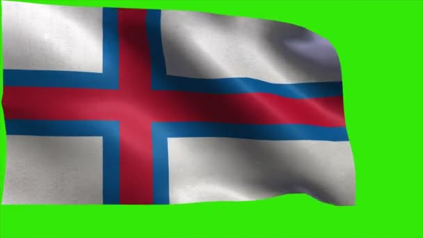 Flag of Faroe Islands, Flag of Faeroe Islands - loop