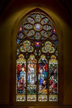 SAINT LOUIS, MO- MARCH 11: Stained Glass Window of Resurrection