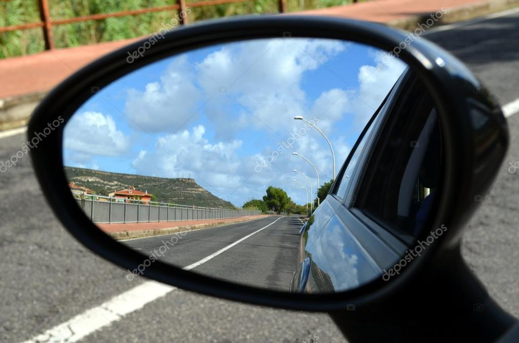 heard someone comparing your past to what you see in a rearview mirror so I thought I'd give this picture a try. Looking in the mirror at Sardinia island Italy