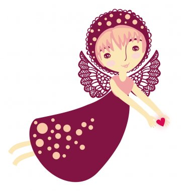 Pink angel flies
