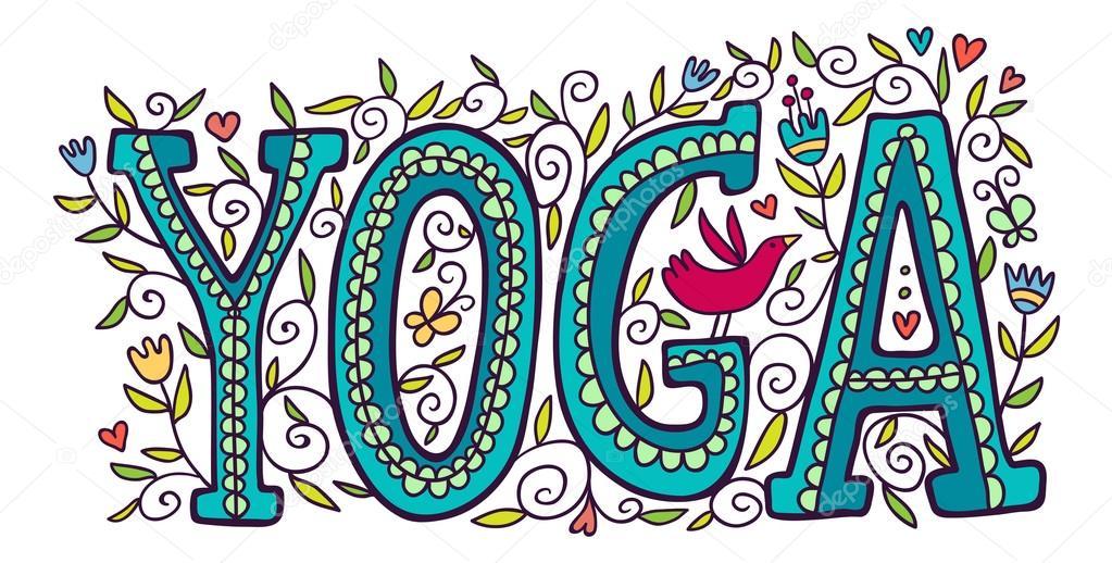 The Word Yoga Stock Vector 169 Apolinarias 57812065