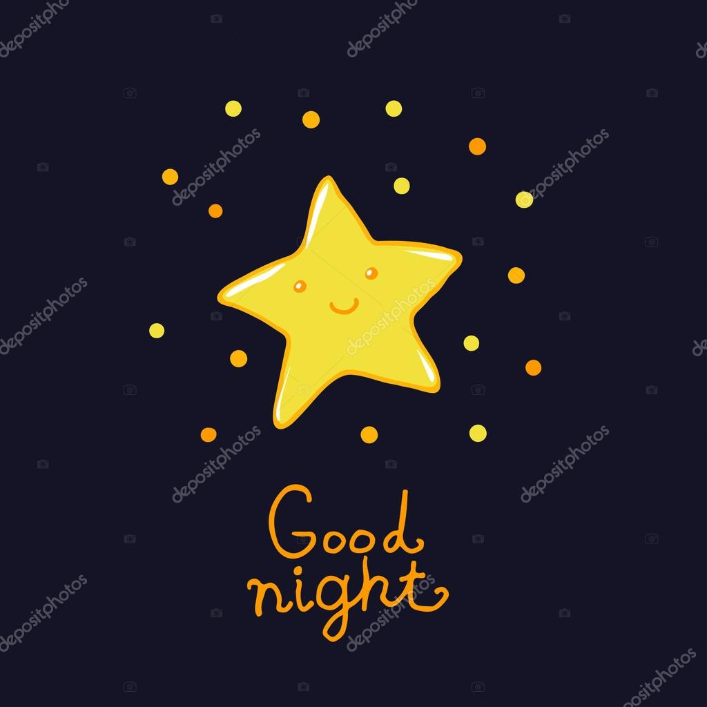 Good Night And Sweet Dreams Illustration Stock Vector