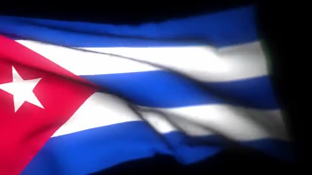 Cuba flag , Realistic 3D animation of waving flag. Cuba flag waving in the wind. National flag of Cuba. seamless loop animation. 4K High Quality, 3D render