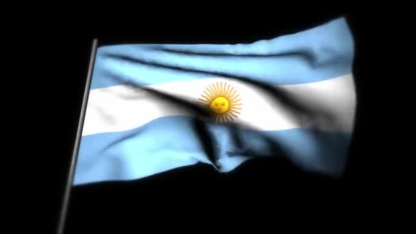 Argentina flag , Realistic 3D animation of waving flag . Argentina flag waving in the wind. National flag of Argentina. seamless loop animation. 4K High Quality, 3D render