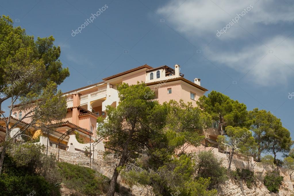 Marco - monumento - Villa - férias - Espanha — Stock Photo © foto ...