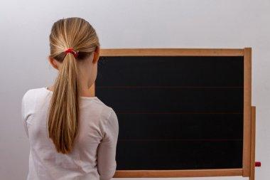 Children - Blackboard with child