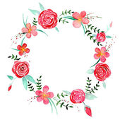 Fényképek Rózsa akvarell koszorú
