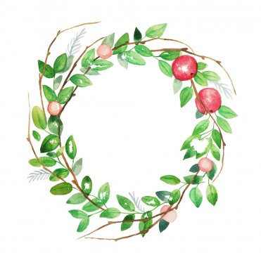 Watercolor floral wreath. Vintage hand drawn vector illustration. clip art vector