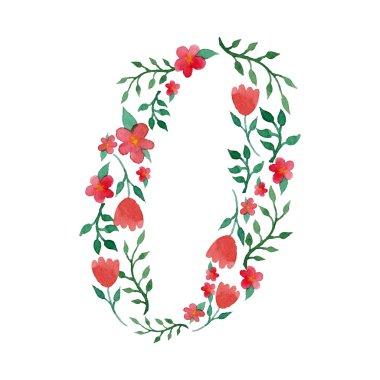 Royal floral number 0